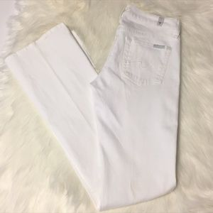 7 for all Mankind White Bootcut Jeans Size 24